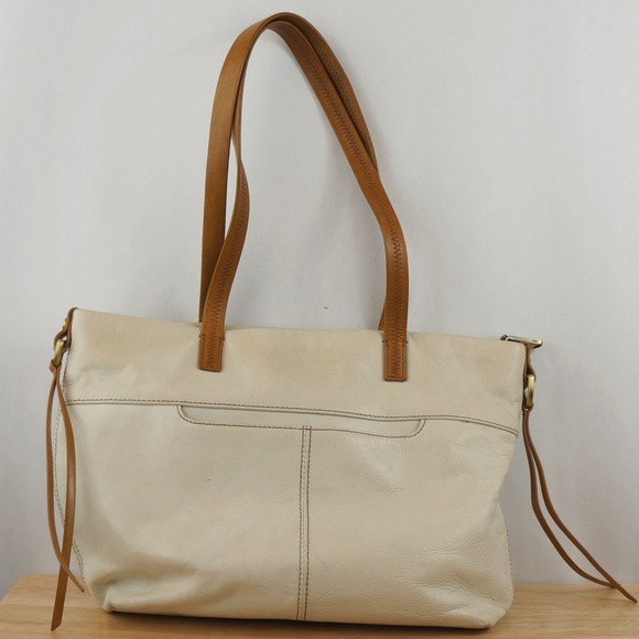 fa0f871d1c7c HOBO Bags Leather Shoulder Bag Cream White & Brown